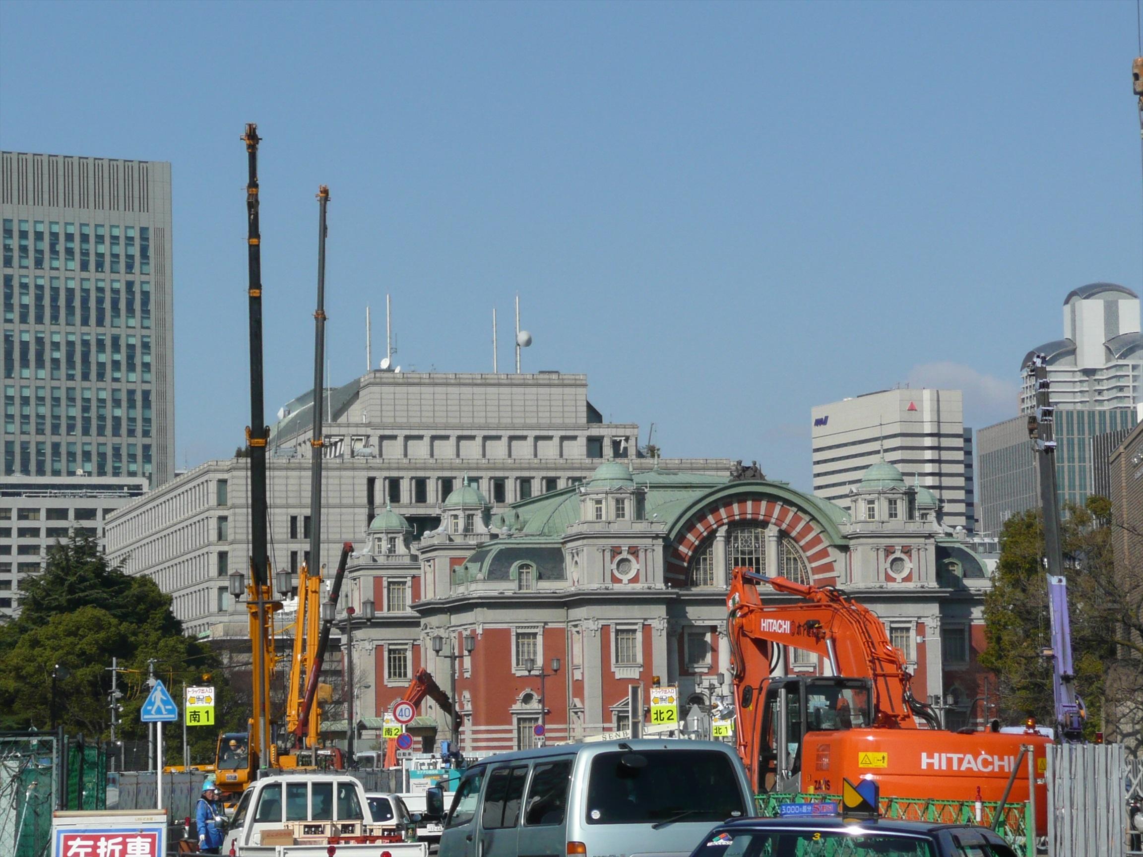 大阪天満宮と中之島(大阪中央公会堂、大証)