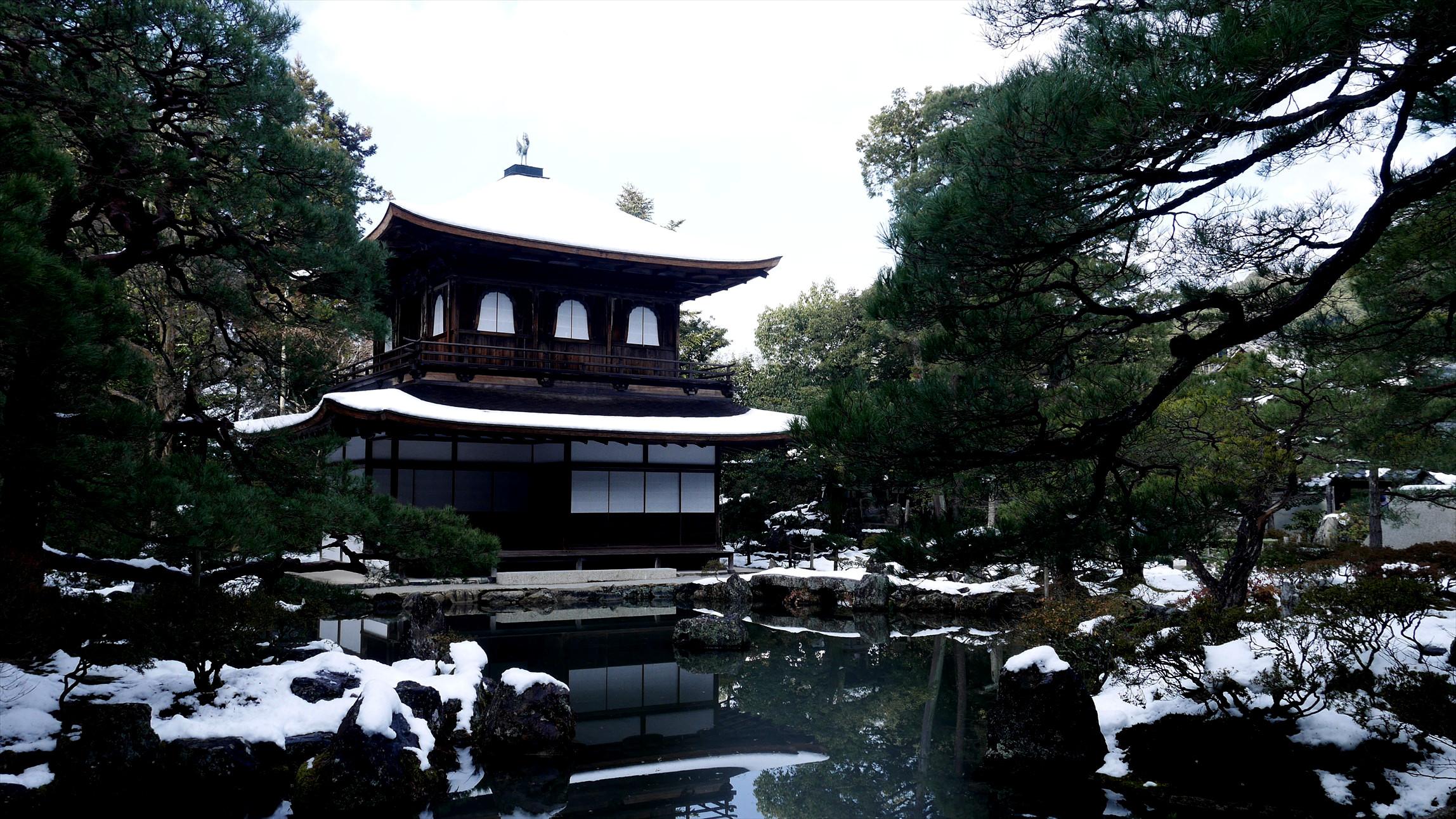 雪が降ってこその銀閣寺 寒かったけど綺麗だった