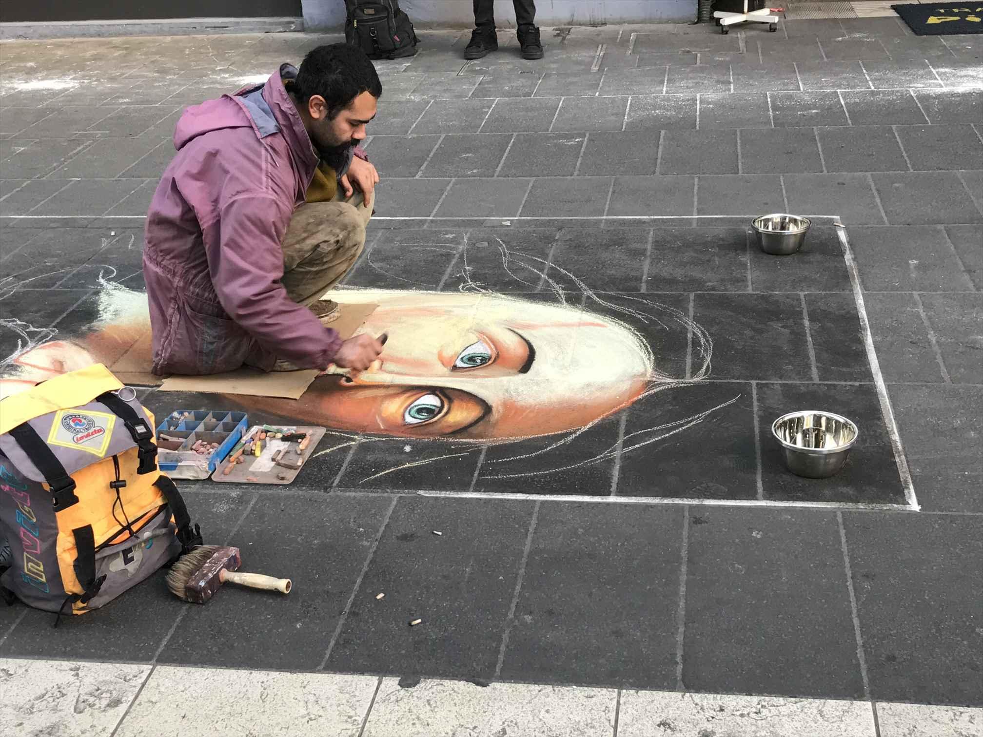 ナポリの路上アート