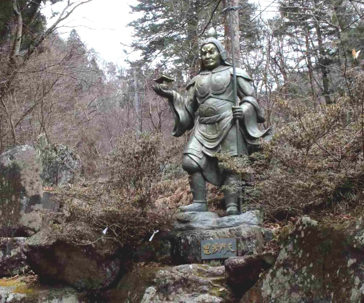 榛名神社の毘沙門天