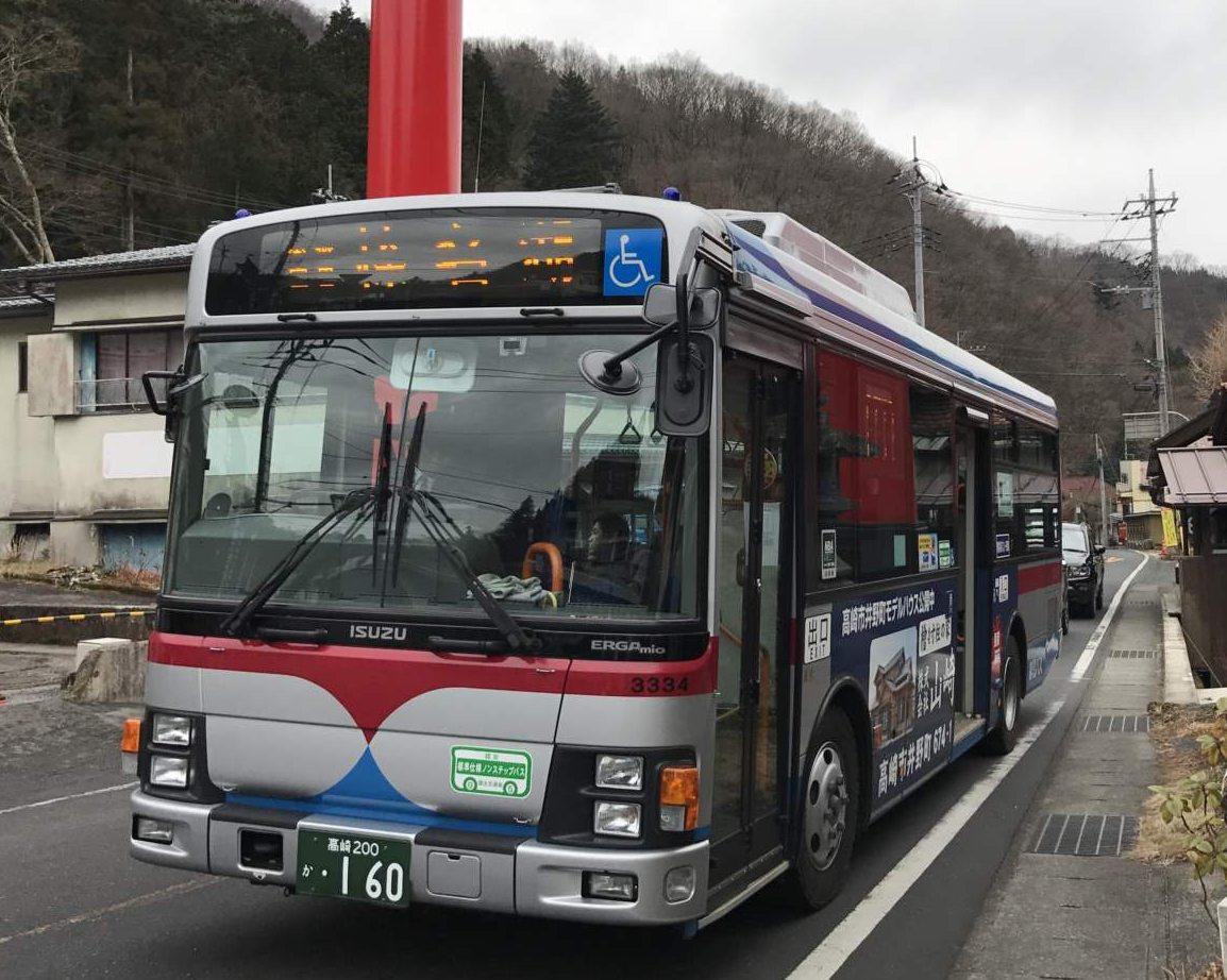春名神社行きのバス