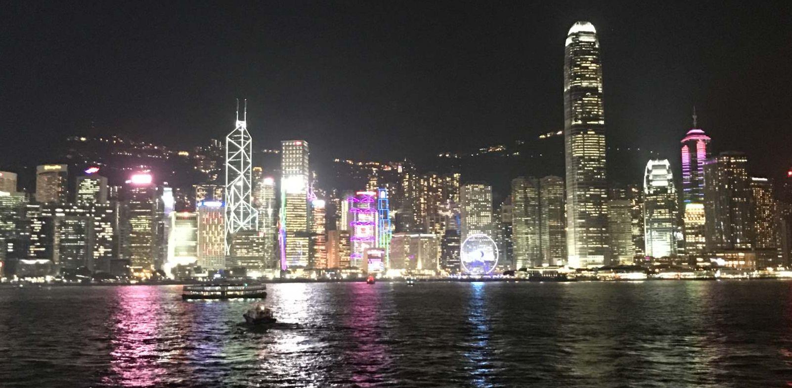 香港・尖沙咀からの夜景
