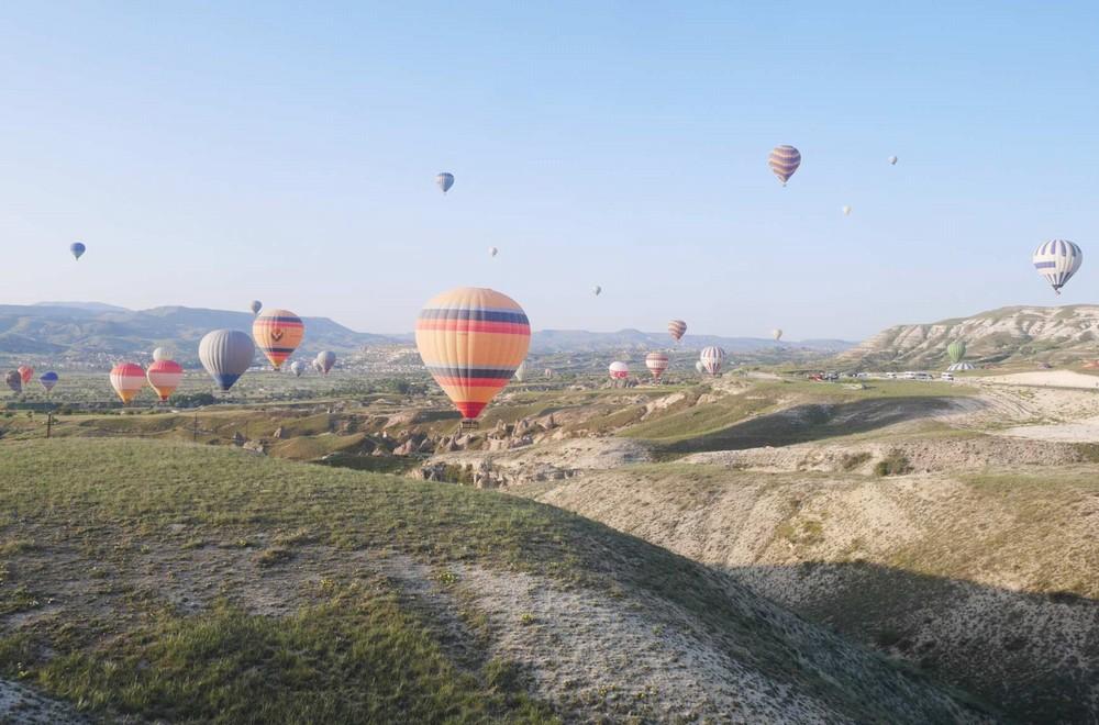 カッパドキアの気球の着陸