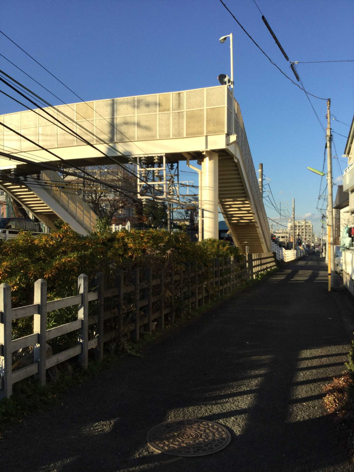 奥沢の歩道橋