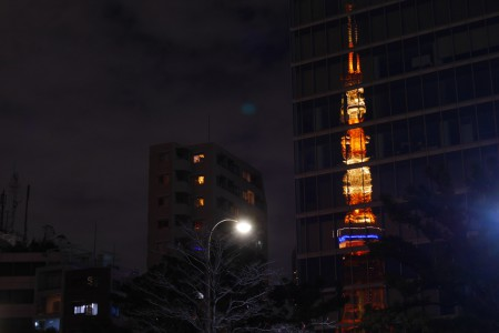 東京タワーのリフレクション