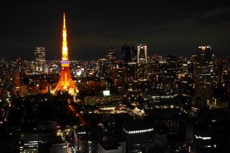 世界貿易センタービルから見た東京タワー