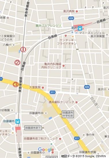 東京タワーとスカイツリーの高さが同じスポット地図