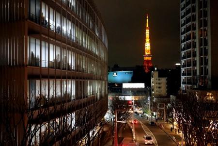けやき坂から見る東京タワー