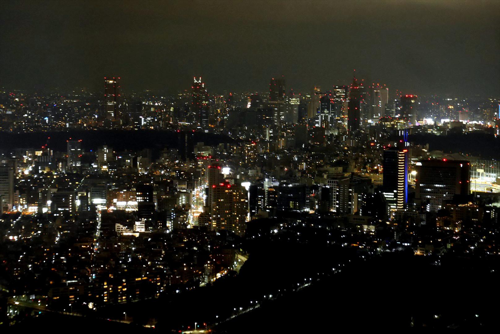 森タワーから新宿方面
