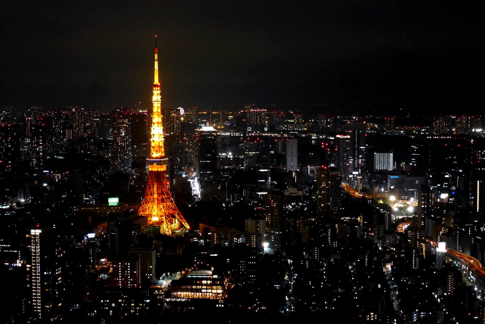 森タワーからの東京タワー