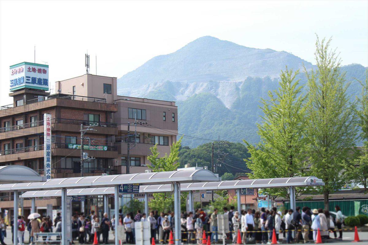 西武秩父の三峯神社行きバス停