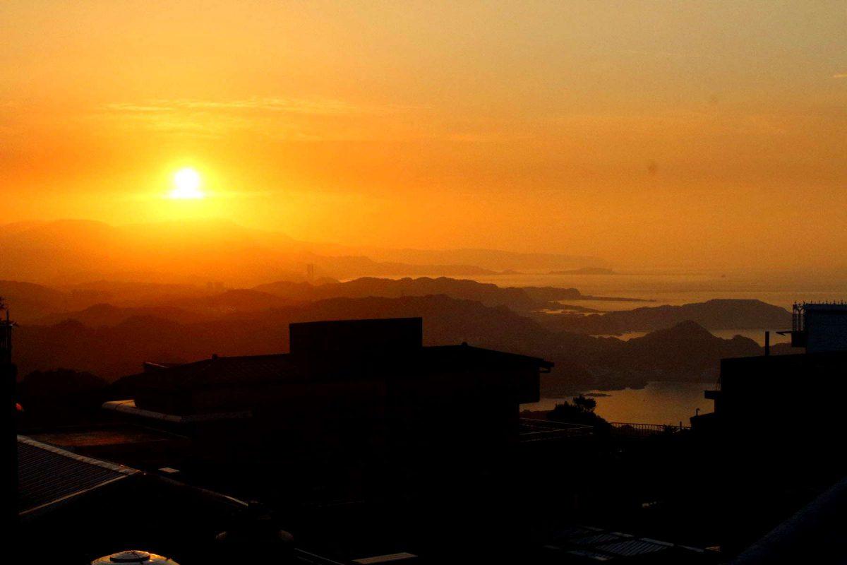 聖明宮からの夕景