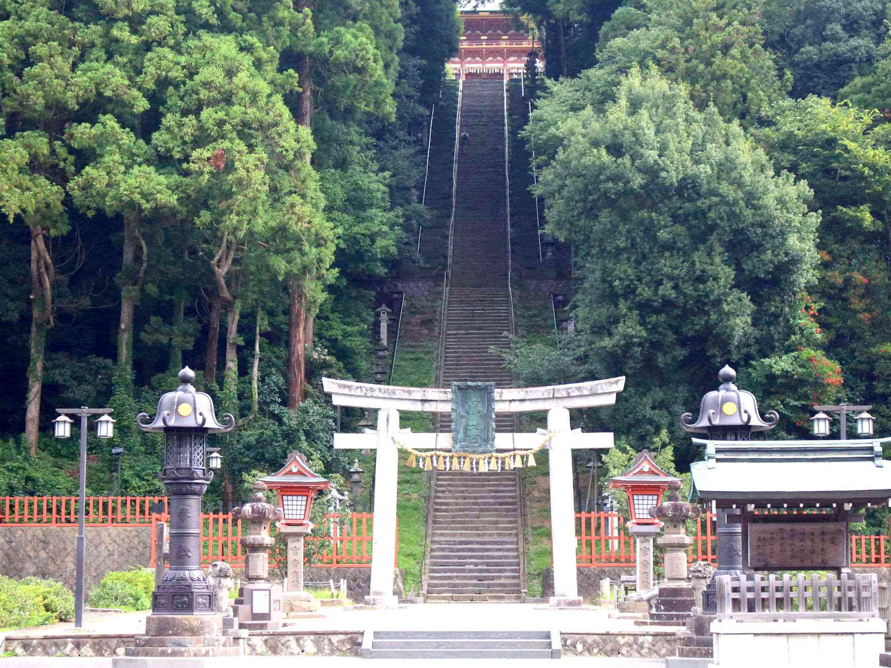 塩竃神社202段の階段