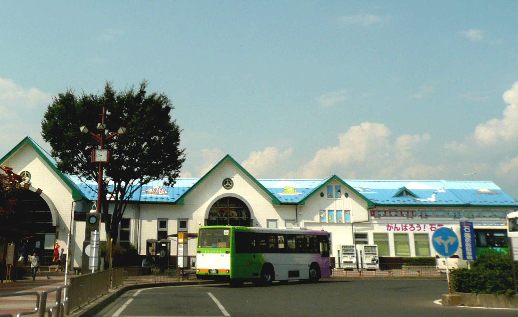かわいいデザインの石巻駅