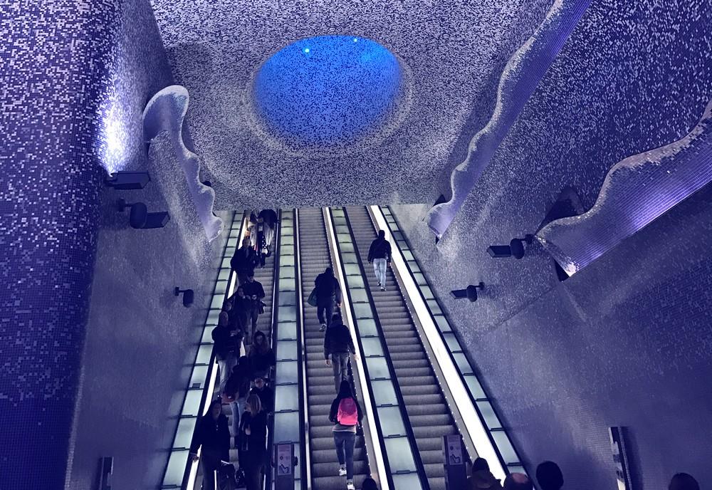 ナポリの地下鉄・トレド駅