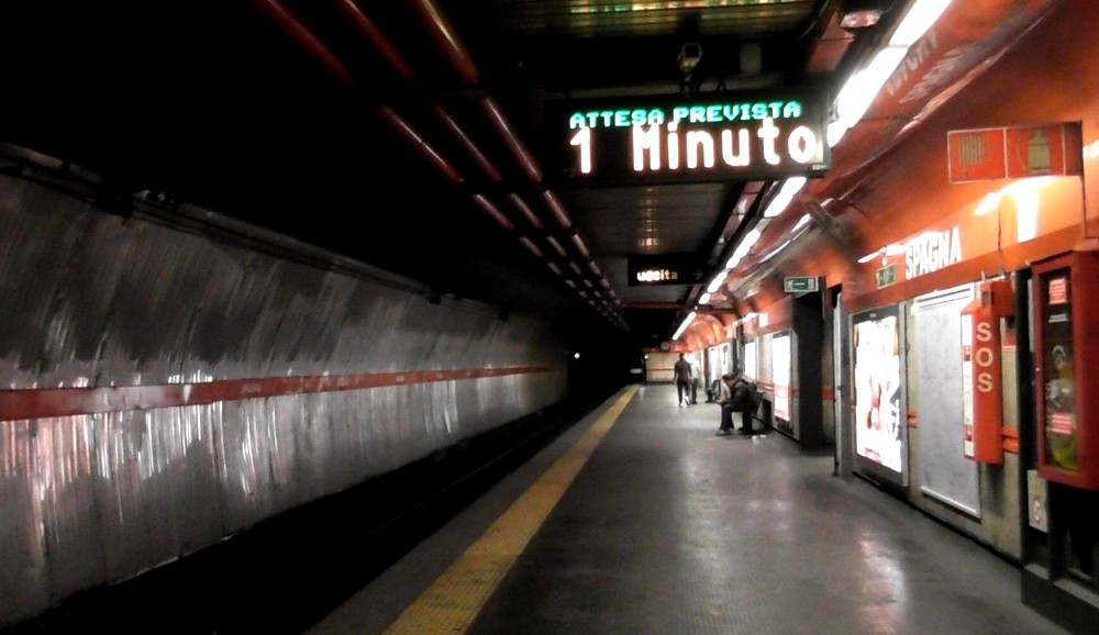 ローマの怖い地下鉄