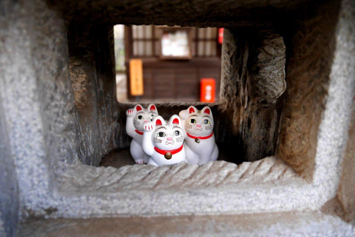 招猫殿の灯篭