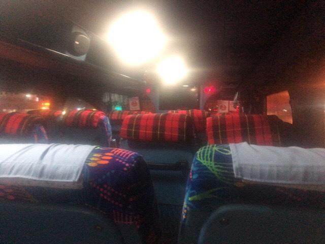 バスは寒い