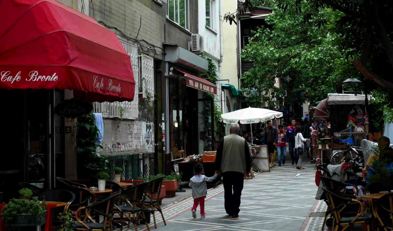 アジア側のレストラン街