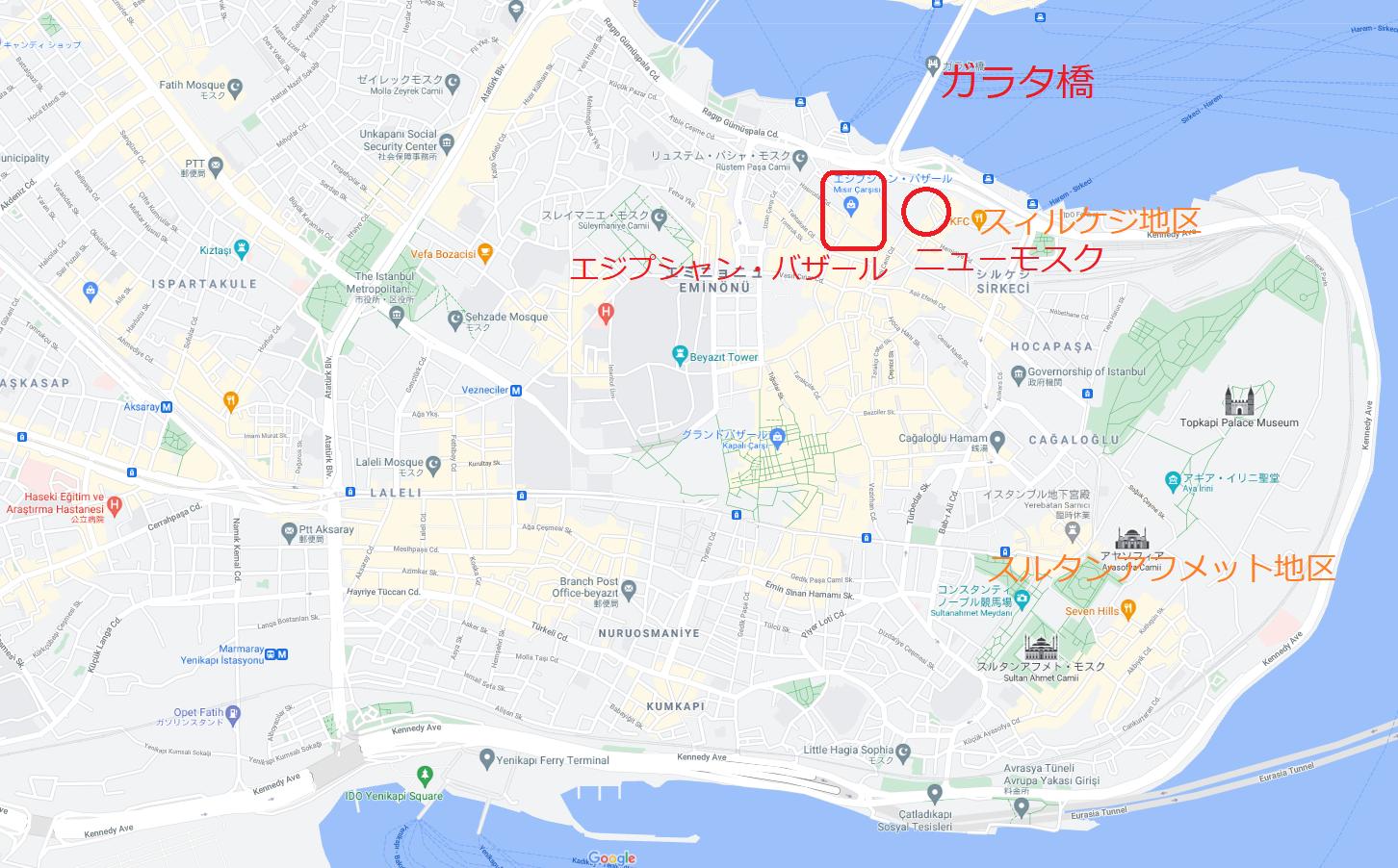 スィルケジ地区(シルケジ地区)地図