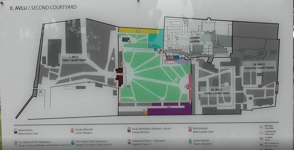 トプカプ宮殿地図