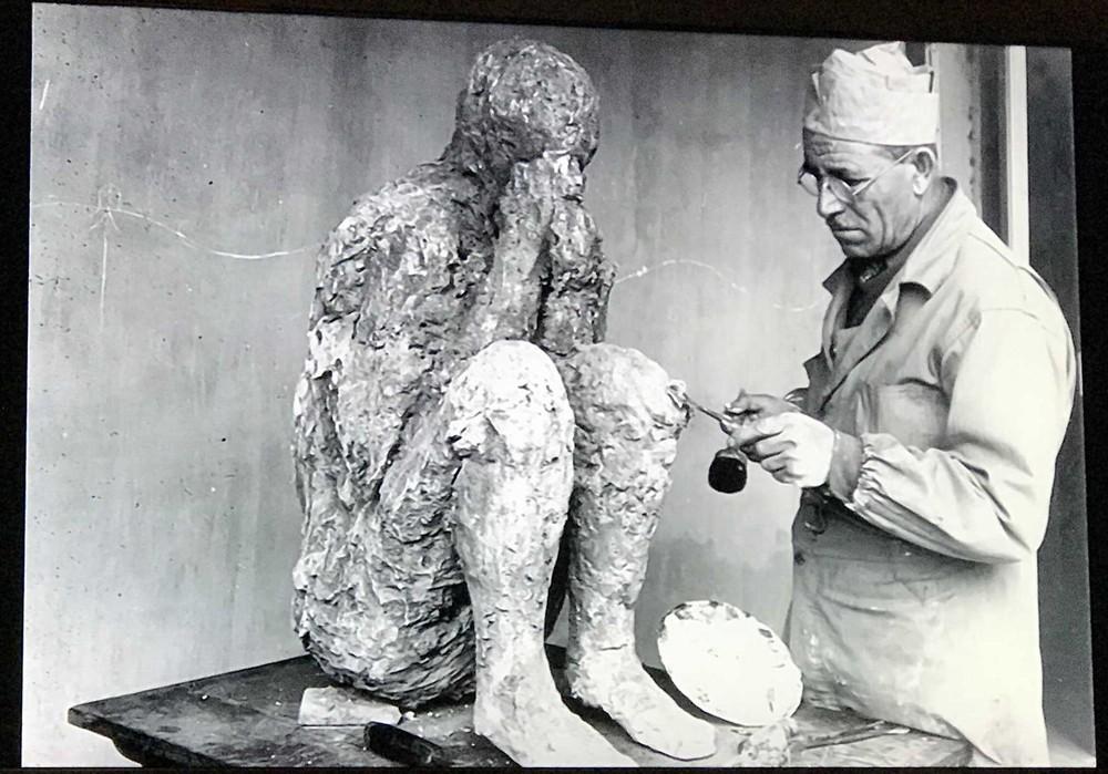 ポンペイ遺跡石膏像